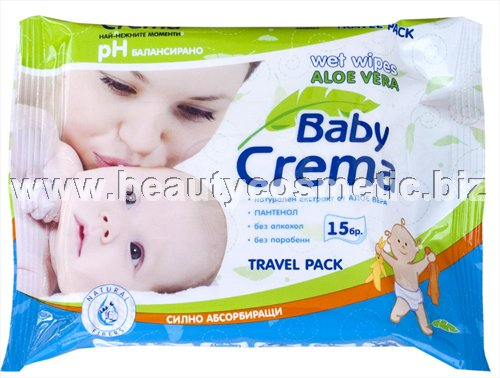 Baby Crema Aloe Wet Wipes 15 pcs