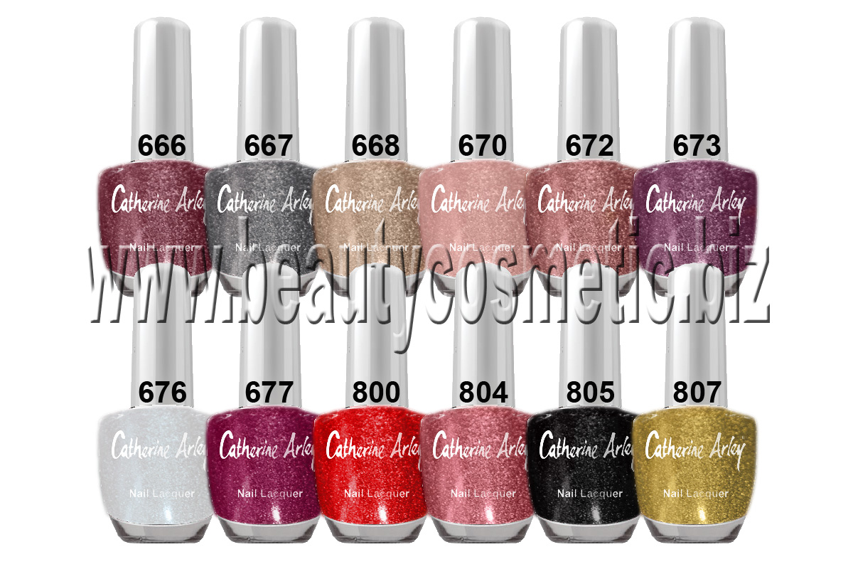 Catherine Arley holographic nail polish
