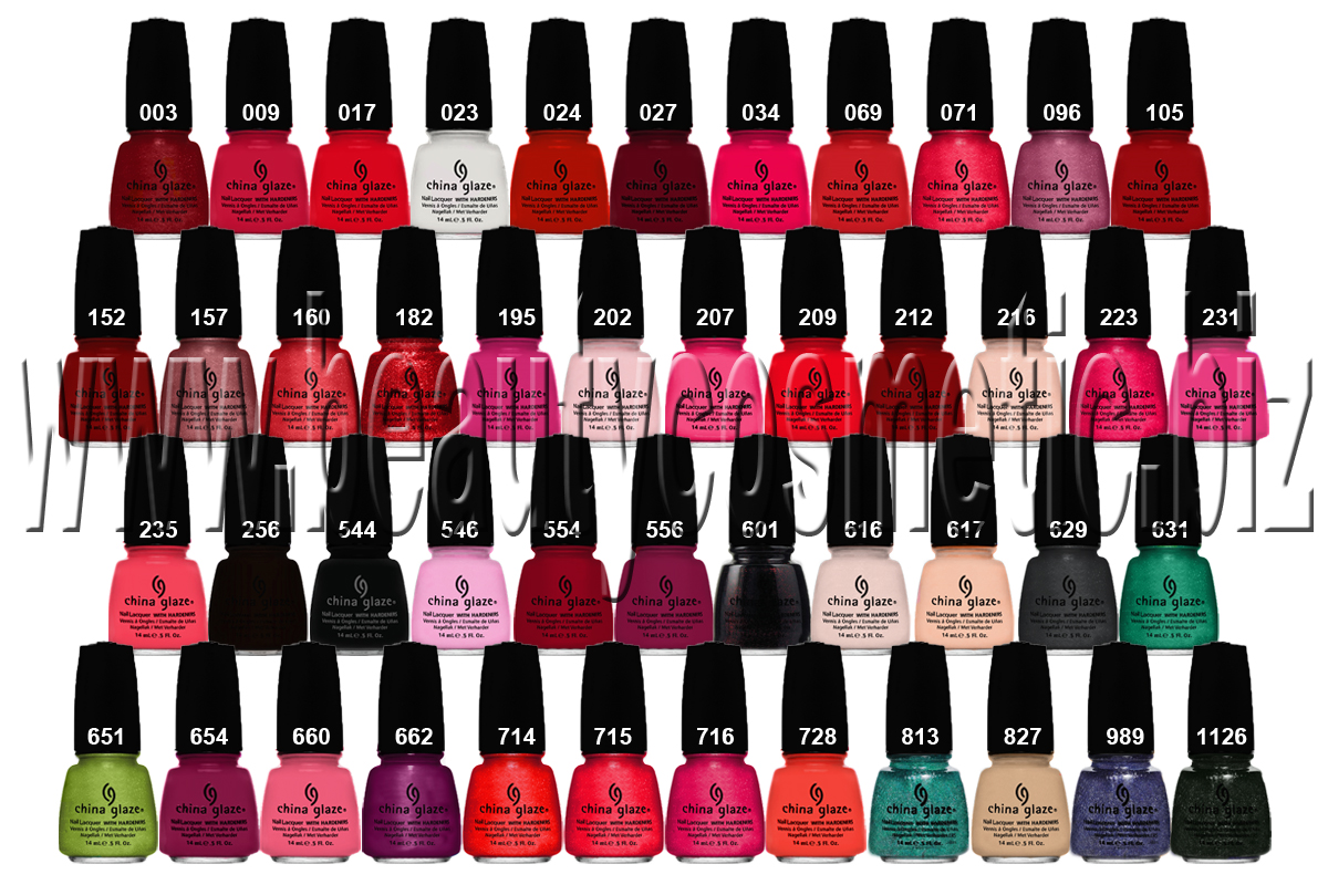 China Glaze Classic collection