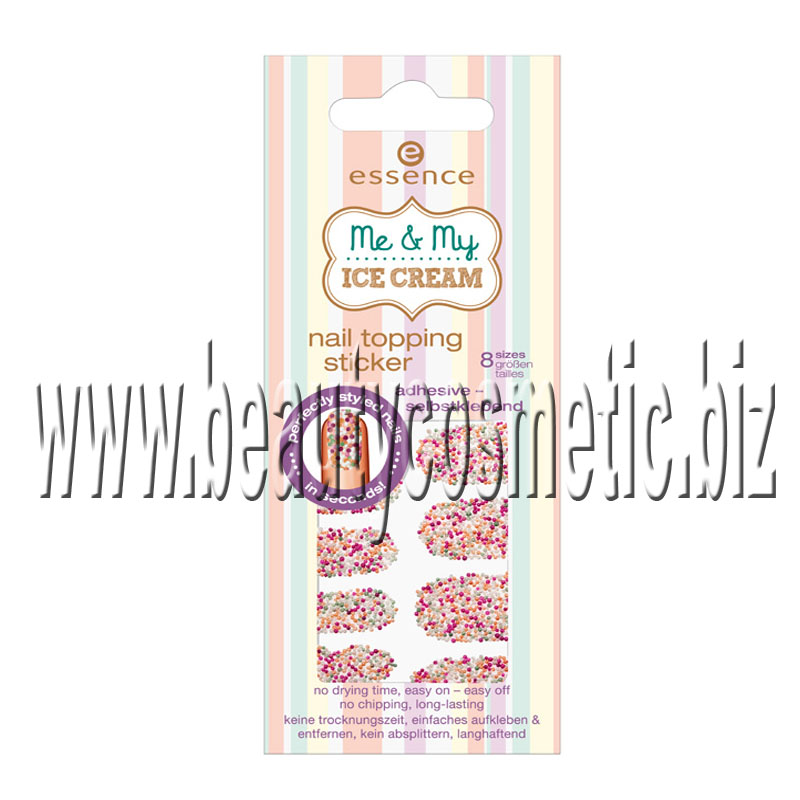 Essence Me & My Ice cream nail topping Sticker