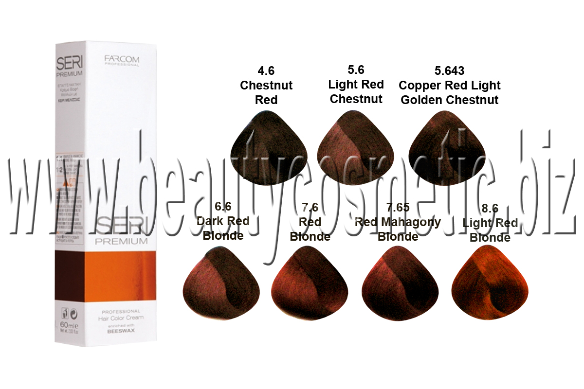 Seri Premium Red Colors hair dye