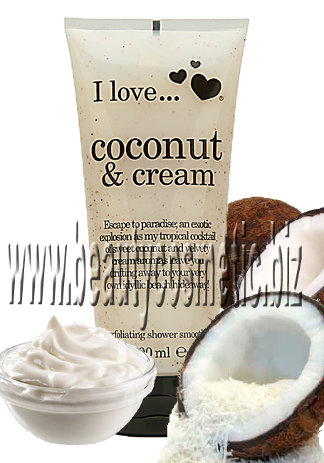 I Love...Coconut & Cream скраб за тяло