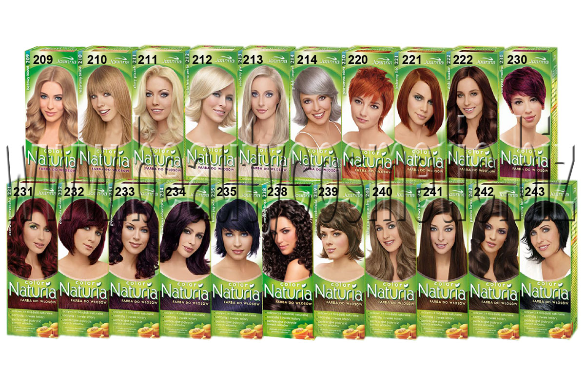 Hair color chart garnier