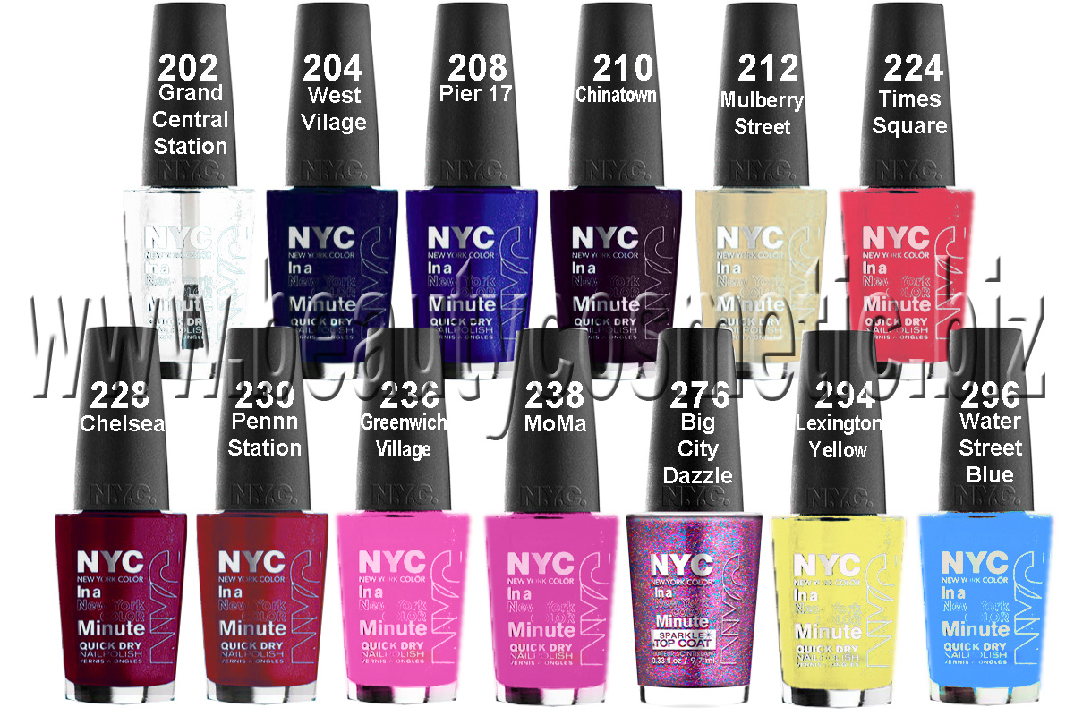 New York Color Minute лак за нокти