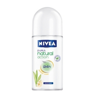 Nivea pure & natural action jasmine scent рол он