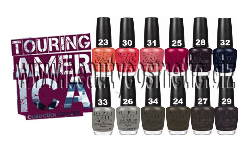 OPI Touring America Collection