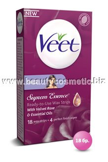 Veet cold wax strips for face