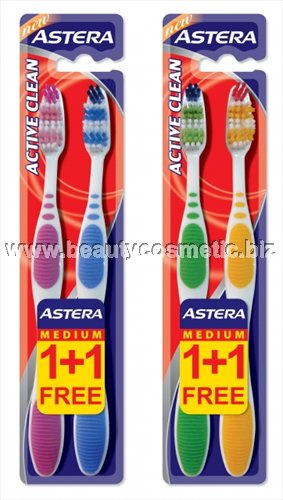 Astera Active Clean 1 +1 toothbrushes