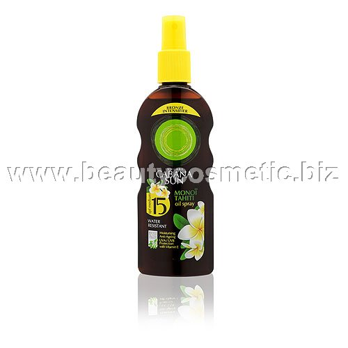Cabana Sun Monoï Tahiti oil spray SPF 15