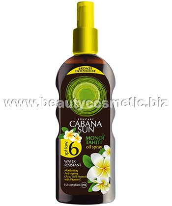 Cabana Sun Monoï Tahiti oil spray SPF 6