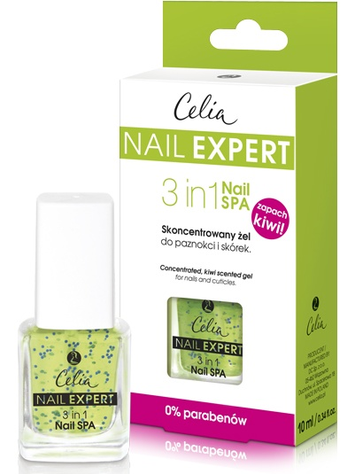 Celia Nail Expert 3 in 1 nail Spa гел за кожички