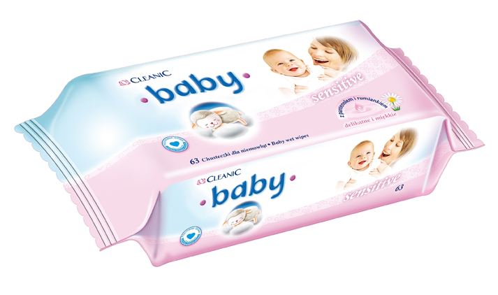Cleanic Baby Sensitive Wet Wipes   with pantenol and camomile