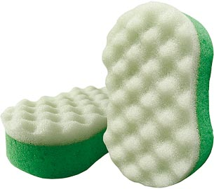 Мassage oval bath sponge