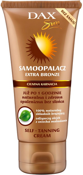 DAX Extra Bronze self tann cream face and body for dark skin