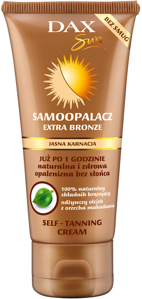 DAX Extra Bronze self tann cream face and body for lighter skin
