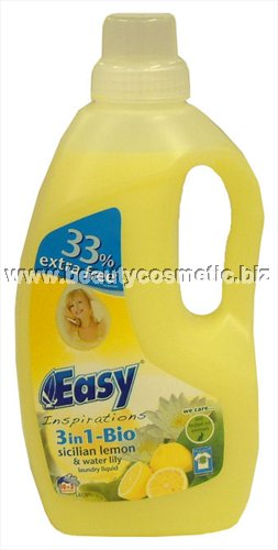 3 in 1 Easy Sicilian Lemon & water lily liquid detergent