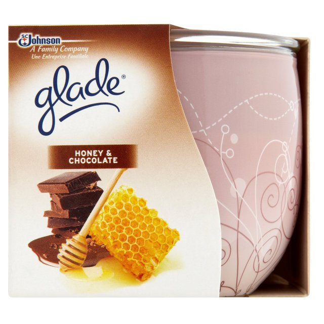 Glade Honey & Chocolate scented candle