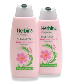 Herbina Berry spa shampoo to preserve the color of colored hair