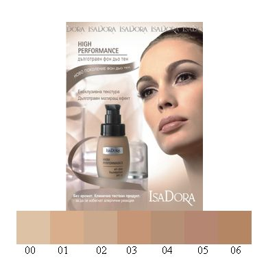 IsaDora Дълготраен фон дьо тен High Performance SPF 12