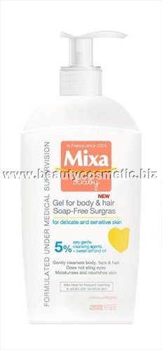 Mixa baby lipid-rich gel for hair & body without soap 400ml