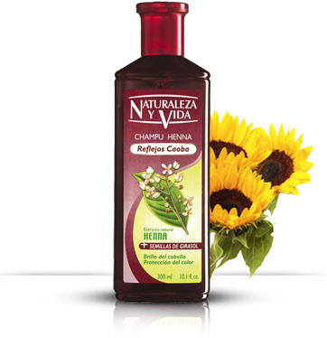 Natur Vital staining with henna shampoo for red hair
