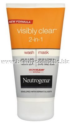 Neutrogena visibly clear 2 in 1 face wash mask