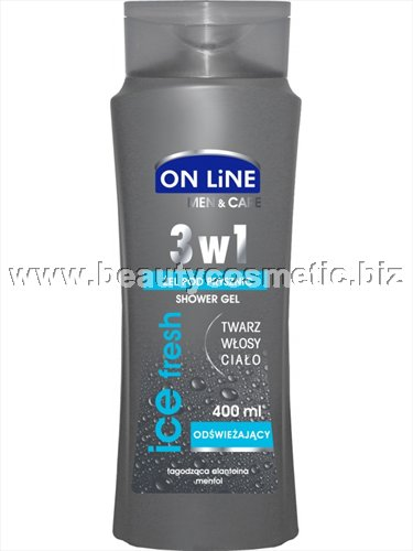 On Line Ice Fresh men 3 in 1  душ гел