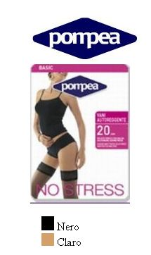 Pompea Sheer pantyhose reinforced panty