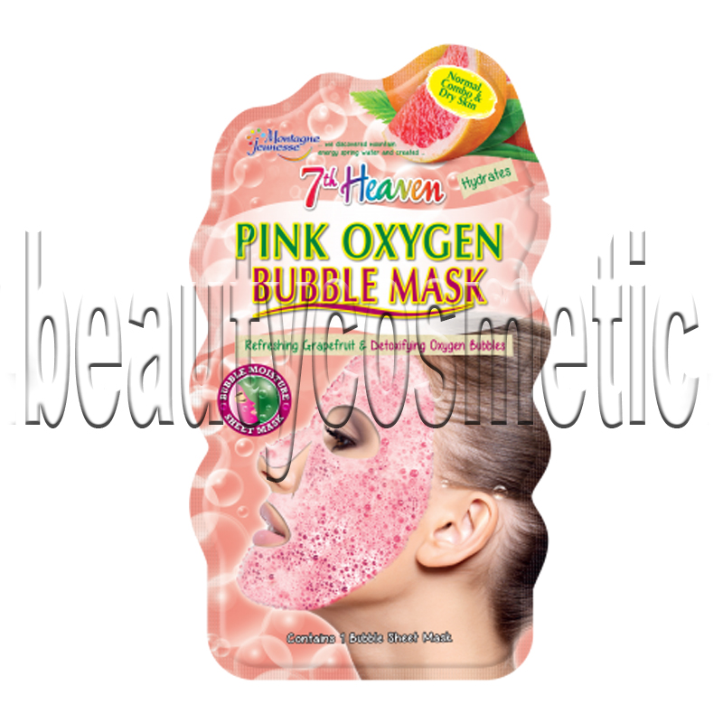 7th Heaven Pink Oxygen Bubble Mask