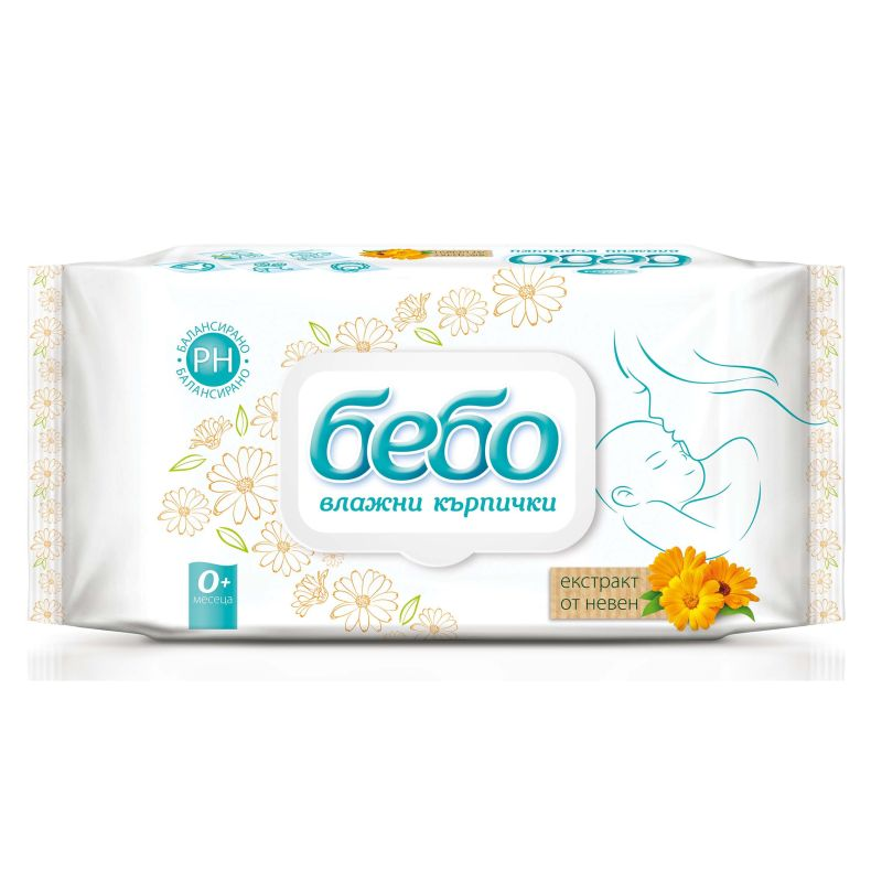 Bebo Wet wipes with marigold extract 64 pieces