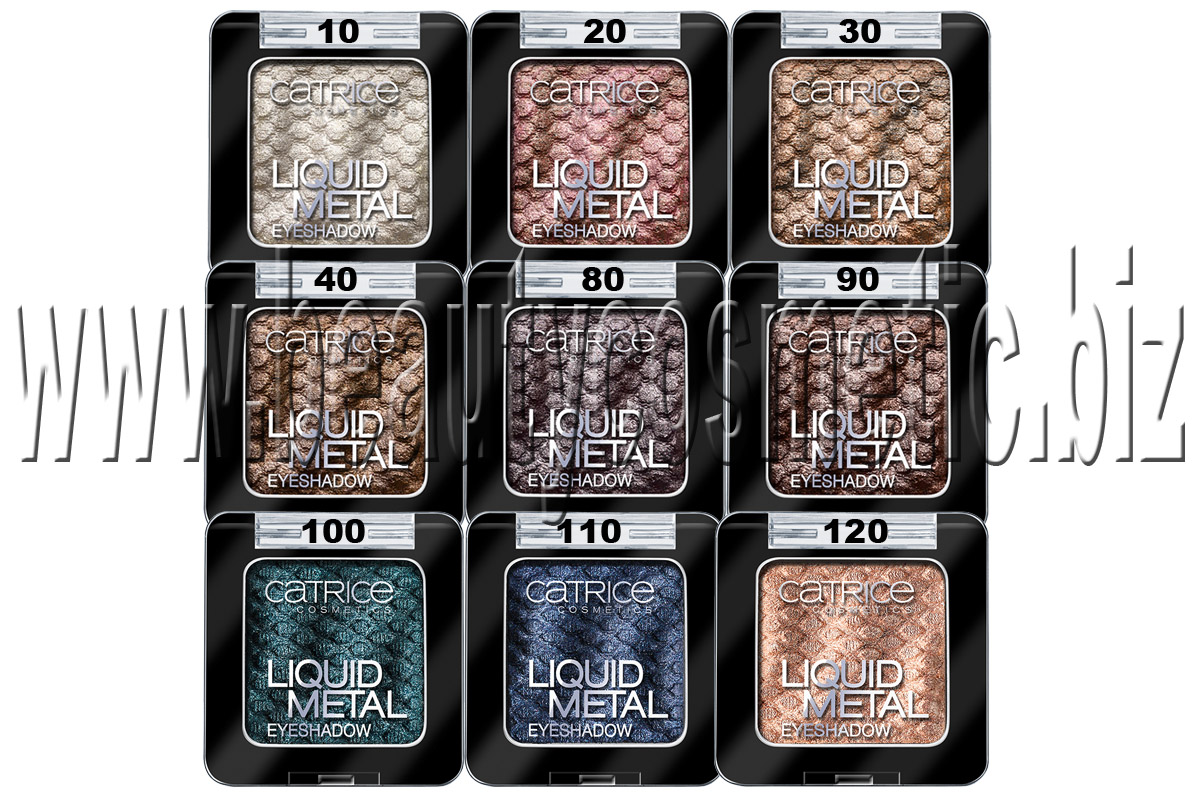 Catrice Eyeshadows with metallic effect
