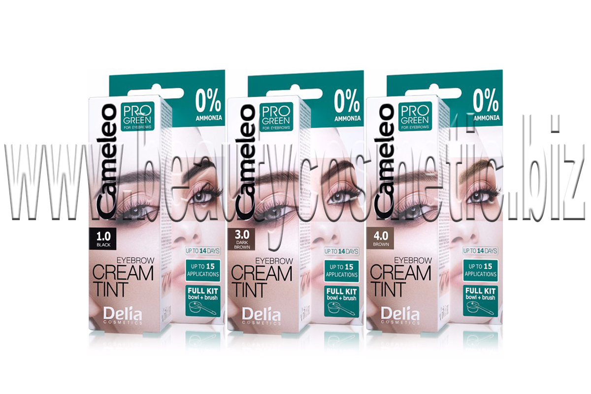 Delia PRO GREEN Eyebrow Cream Tint