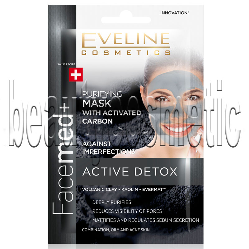 Eveline Facemed + cleaning and detoxifying mask with charcoal dose