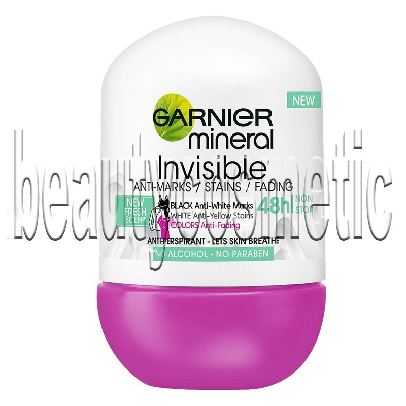 Garnier Mineral Invisible Black, White And Colors Fresh roll on