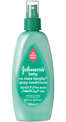 Johnson's Baby spray conditioner for easy combing