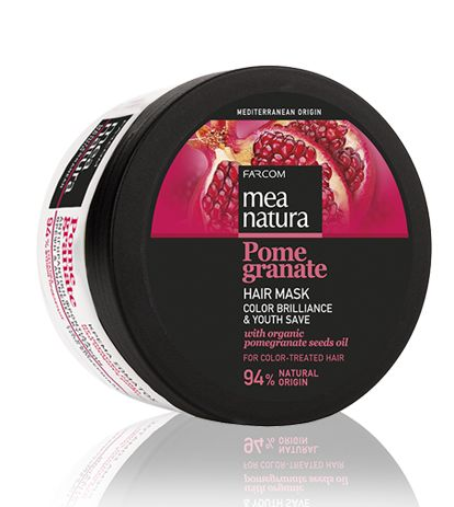 Mea natura Pomegranate Hair Mask Color Brilliance & Youth Save