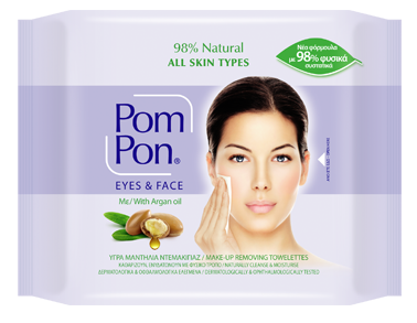 PomPon Natural soft facial towelettes All Skin types