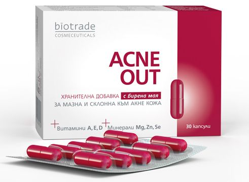 Acne Out nutritional supplement for oily and acne-prone skin