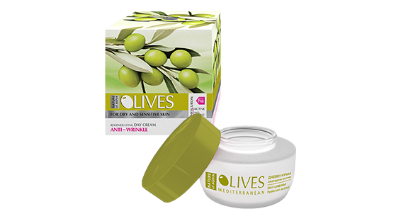 Agiva Olives Anti-wrinkle day cream for dry and sensitive skin