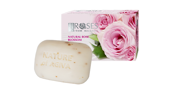 Agiva Soap with natural rose flavour