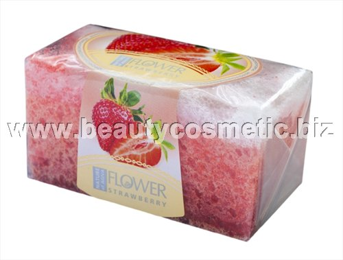 Agiva peeling soap sponge with strawberry flavor