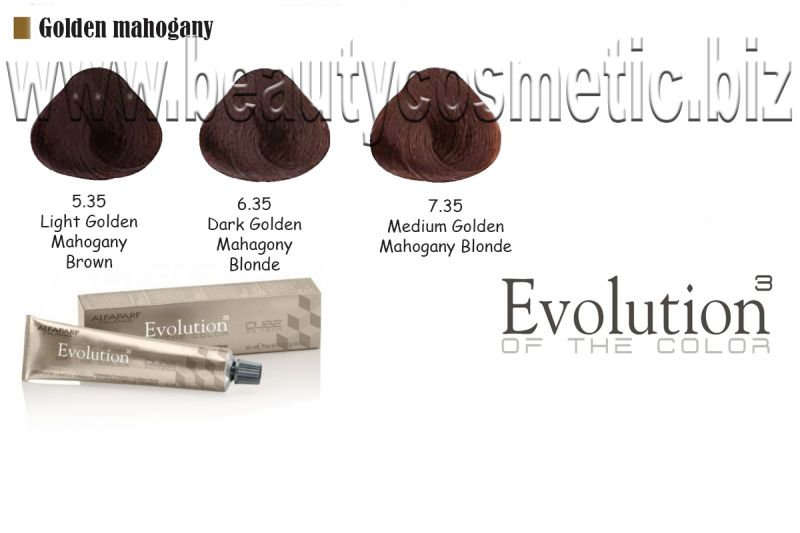 Alfaparf Evolution Golden Mahogany Hair color with botox effect