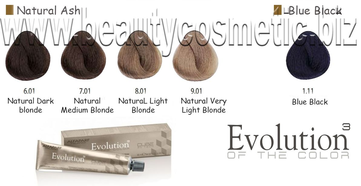 Alfaparf Evolution Natural Ash Hair color with botox effect