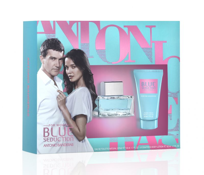 Antonio Banderas Blue Seduction set woman