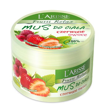 L'ARISS body mousse Red fruit and vitamin E