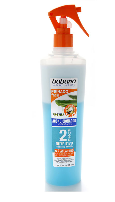 Babaria biphasic spray lubricant without washing