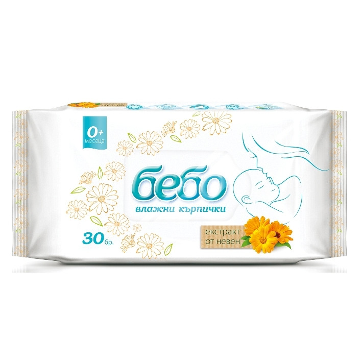 Bebo Wet wipes with marigold extract 30 pieces