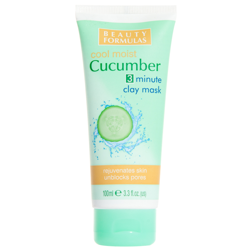 Beauty Formulas 3 minute clay mask with cucumber