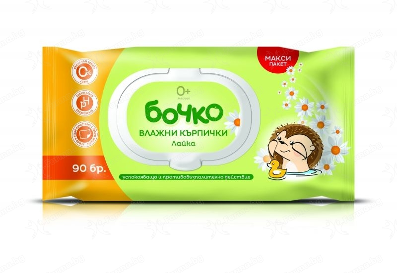 Bochko wet wipes Chamomile 90 pcs