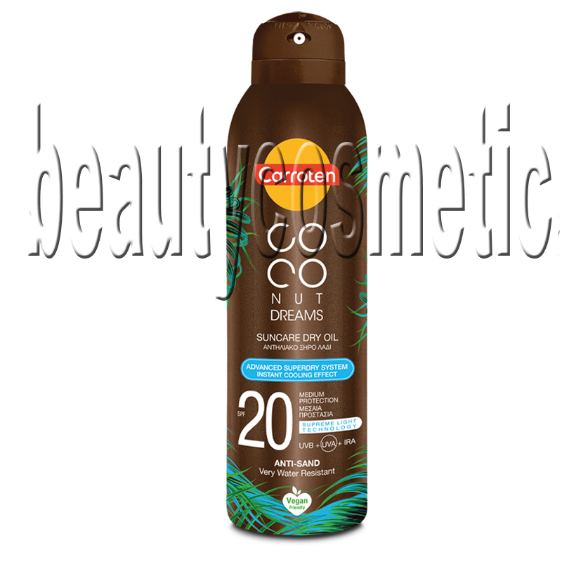 Carroten Coconut Dreams сухо олио за тен SPF 20